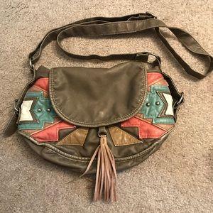 Aztec design crossbody bag
